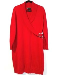 14/16 Lane Bryant Red Sweater Dress: Holiday Ready